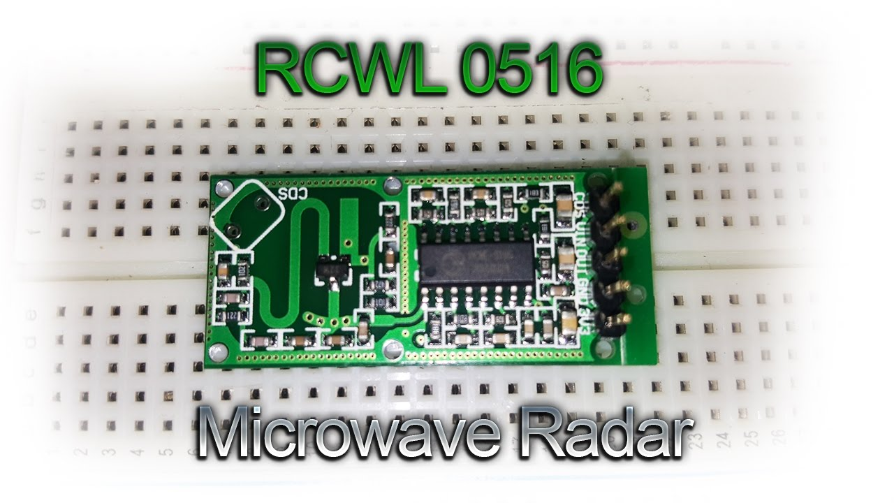 Rcwl 0516 Microwave Radar Sensor Arduino Distance Test And
