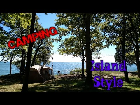 Camping on South Bass Island.