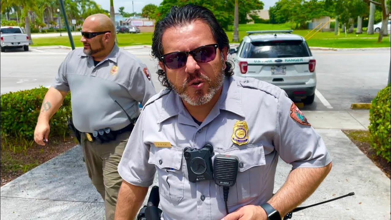 ranger cops arrive at city hall after first amendment audit