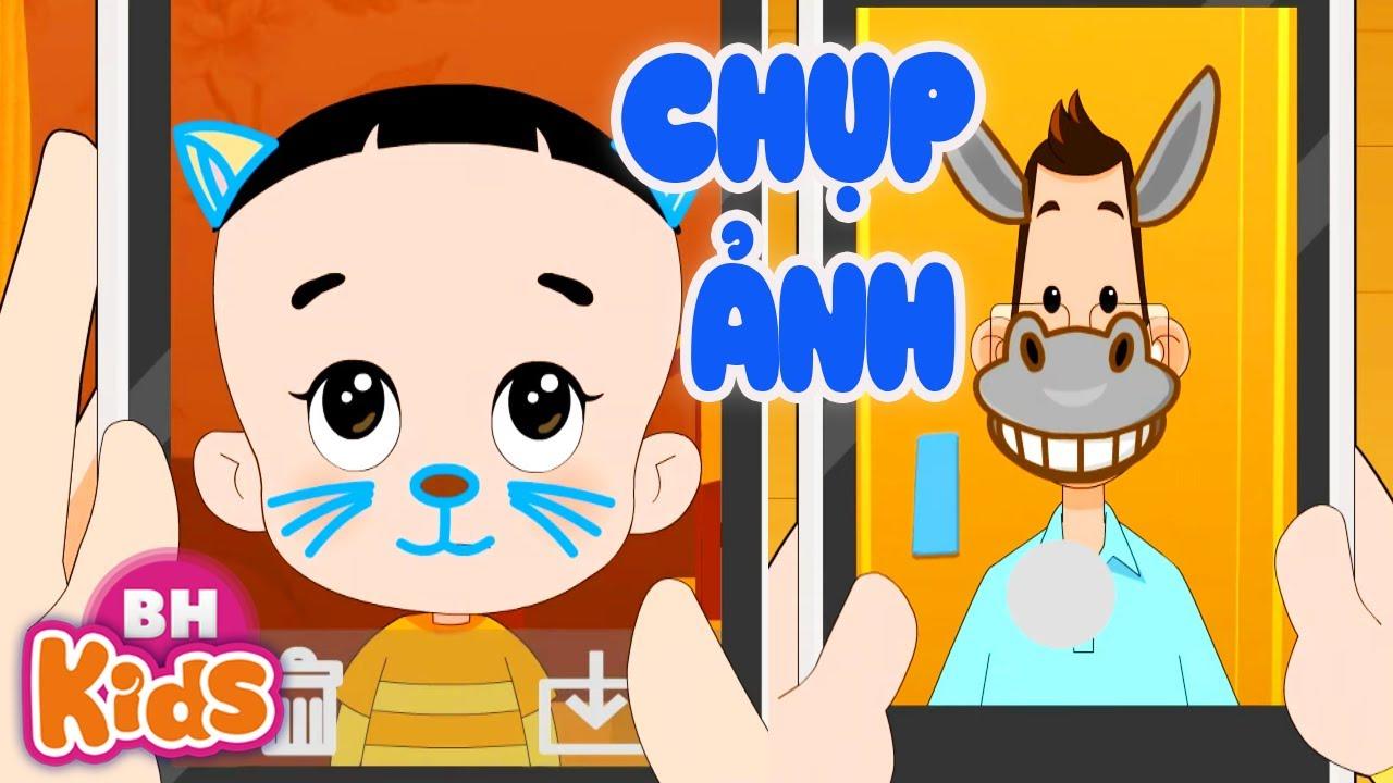 Hoạt Hình Bố Đầu Nhỏ Con Đầu To: Chụp Ảnh Mặt Mèo - Phim Hoạt Hình Vui Nhộn Hay Nhất