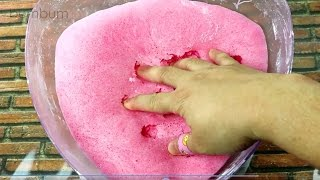 REAL STRAWBERRY ICEBERG SLIME RECIPE! INSTAGRAM SLIME TUTORIAL! NO BORAX SLIME! Bum Bum