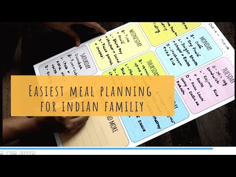 Indian Weekly Meal Planning | Easiest Meal planning  Indian Dinner & Lunch Planning