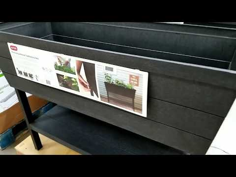Costco - Wood Look Garden Bed from Keter - YouTube on costco water, costco soup, costco cookies, costco christmas, costco strawberries, costco tree,