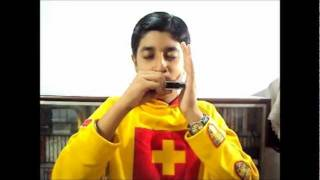 harmonica instrumental of papa kehte hain q s q t by arpit vijh
