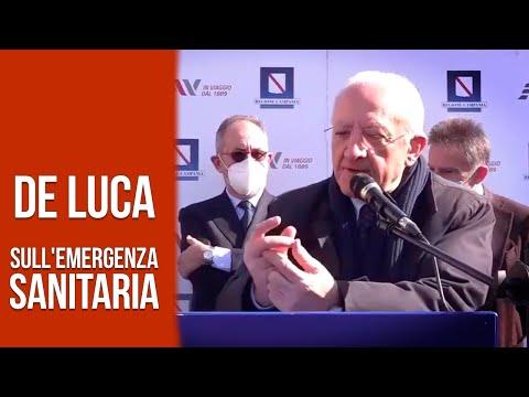 Il governatore De Luca sull'emergenza sanitaria