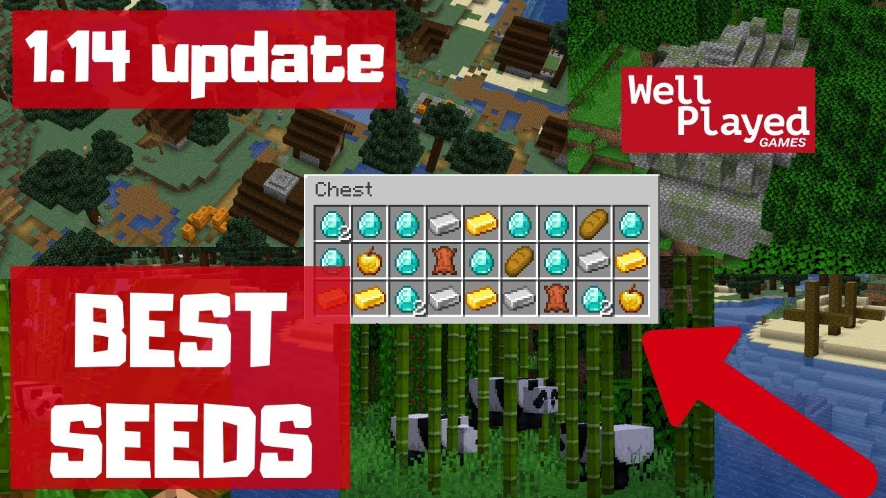 TOP 1111 BEST MINECRAFT 11.111 WORLD SEEDS! (Bamboo Forest, Villages, Dungeons  & Loot)
