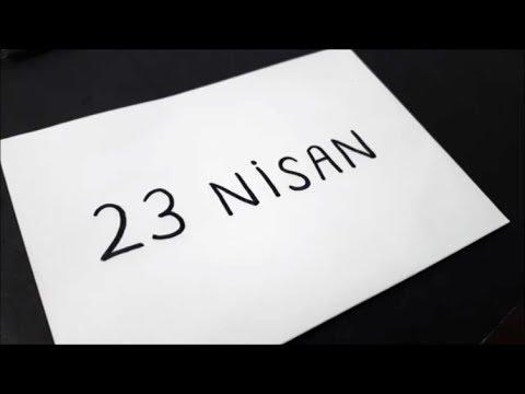 23 Nisan Yazarak Resme Cevirme 23 Nisan Ulusal Egemenlik Ve Cocuk