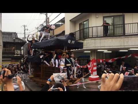 【岸和田だんじり祭】20170916 宵宮 S字カーブ No.1 (Japanease Danjiri in Kishiwada Osaka  2017/09/16)