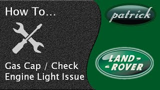 How to shut off check engine light and gas cap usage on Land Rover Jaguar.