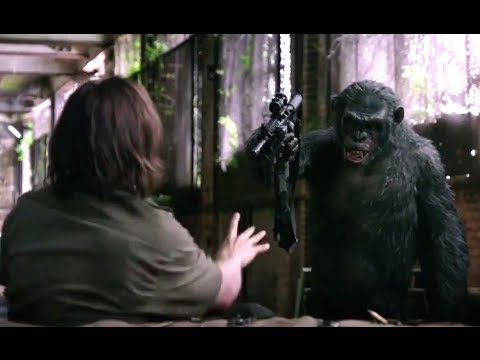 Dawn Of The Planet Of The Apes Official Movie Clip - Koba's Weapon (2014) Andy Serkis HD
