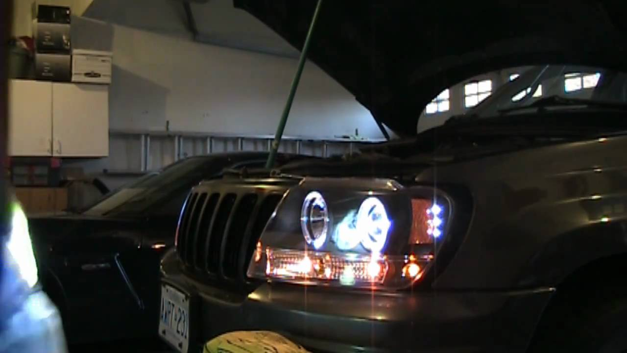 hight resolution of how to install hid headlights on your car 1999 2004 jeep grand cherokee wj youtube