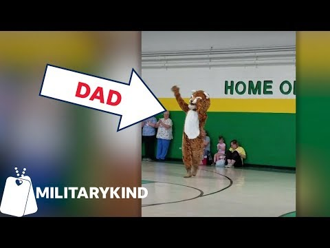 Dad In Mascot Suit Fools The Entire School | Militarykind