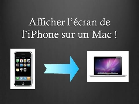 Comment voir ecran iphone sur mac for Photo ecran sur mac