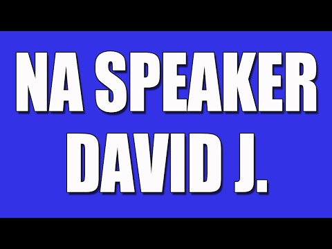 NA Speaker - David J. - Narcotics Anonymous Speaker