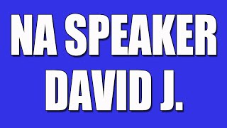 David J. Narcotics Anonymous Speaker