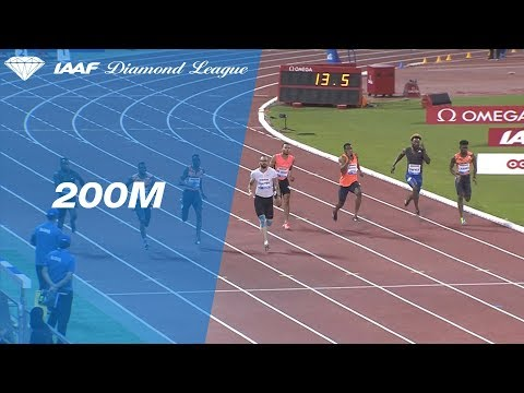 Noah Lyles Wins Men's 200m - IAAF Diamond League Doha 2018