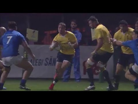 Ionuț Dumitru sidestep sends Paul Perez overbalancing onto his backside