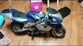 Electric naked Pocket bike Diy…