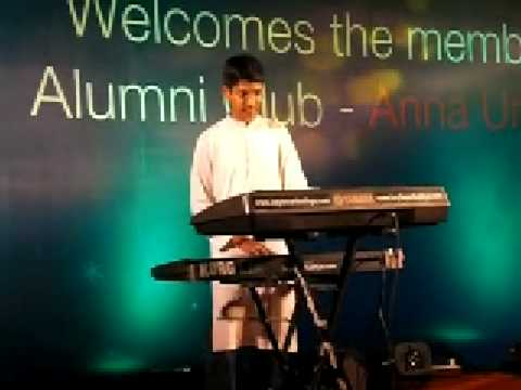 02 - Sathya on keyboard performing a medley of Hindi songs on 31st Dec'08