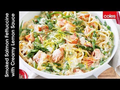 Smoked Salmon Fettuccine With Creamy Lemon Sauce