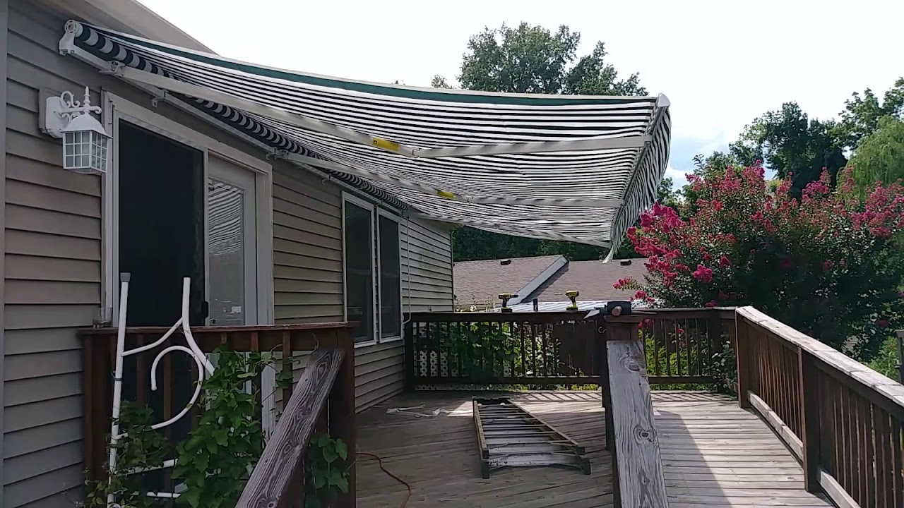 Aleko Awning In Action 10 215 20 Youtube