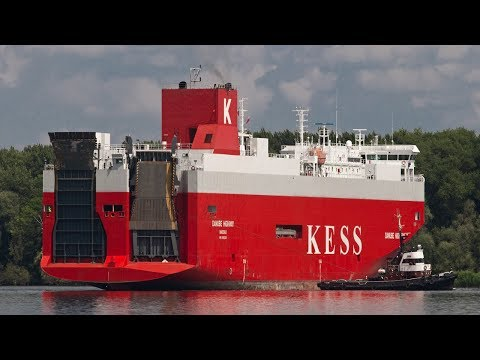 KESS Shipping Danube Highway Car Carrier Launch Cargo Ship RO-RO Vessel