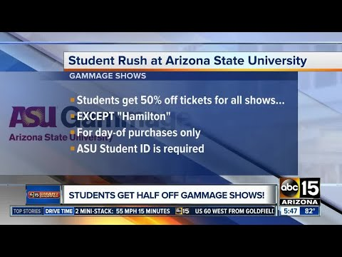 ASU students get half off Gammage shows