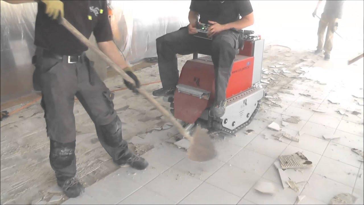 Der roll stripper entfernt keramische fliesen youtube - Fliesen entfernen maschine ...