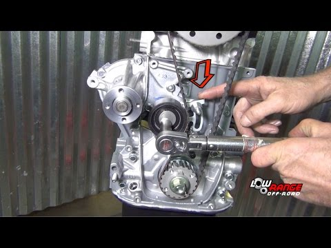 How To Rebuild A 1.3L Suzuki Samurai Engine (Part 7) Timing Belt, Valve Adjust, and Water Pump