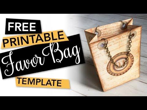 FREE Printable Favor Bag Template   FREEBIE + TUTORIAL