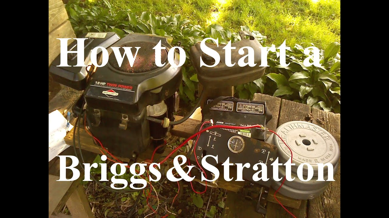 how to start a briggs and stratton 18hp opposed twin [ 1280 x 720 Pixel ]