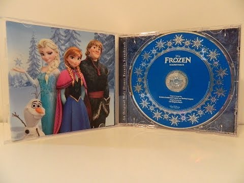 Disney Frozen Soundtrack including LET IT GO CD Unboxing