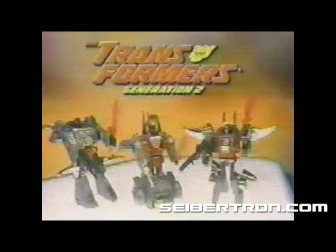 Transformers G2 Constructicons and Dinobots Generation 2 commercial 1993