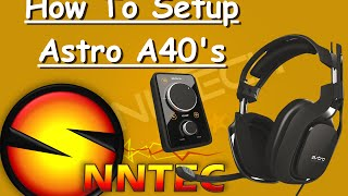 How To Setup Astro A40 TR For The PS4 With Mic Test | By Jay Silver