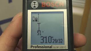Measuring Doors and Winḋows with a Bosch Laser Measure