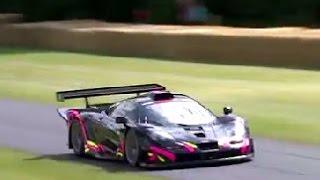 Kenny Brack, McLaren F1 GTR Long-tail, Festival of Speed shoot-out run!