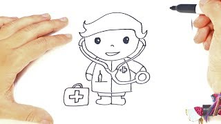 Como dibujar un Médico paso a paso | Dibujo facil de Médico