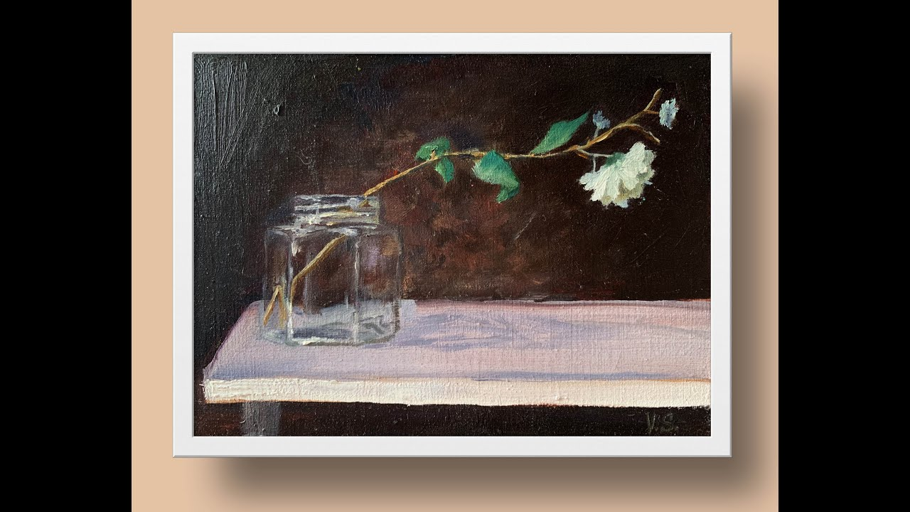 flower in a vase oil painting demo easy still life painting youtube rh youtube com wiring the back of a painting wiring the back of a painting