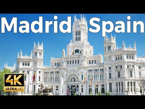 Madrid, Spain Walking Tour (4k Ultra HD 60fps)