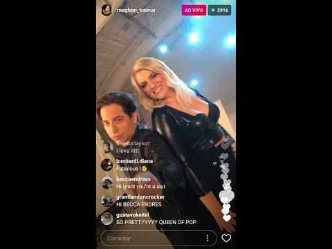 Meghan Trainor live Instagram w/ Charlie Walk , DJ Khaled & Diddy #TheFourOnFox