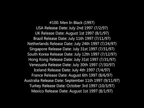 Movie Release Date Database Video USA and Other Countries #2 11/29/17