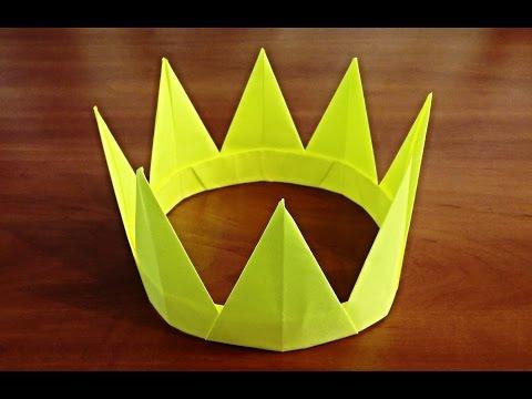 как сделать корону из бумаги своими руками  Оригами корона Origami crown