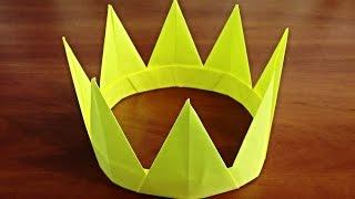 як зробити корону з паперу своїми руками Орігамі корона Origami crown