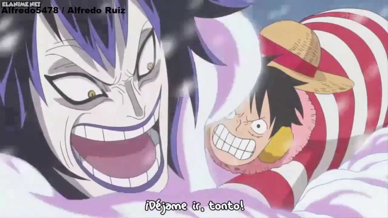 Luffy vs Caesar Clown [One Piece] HD - YouTube