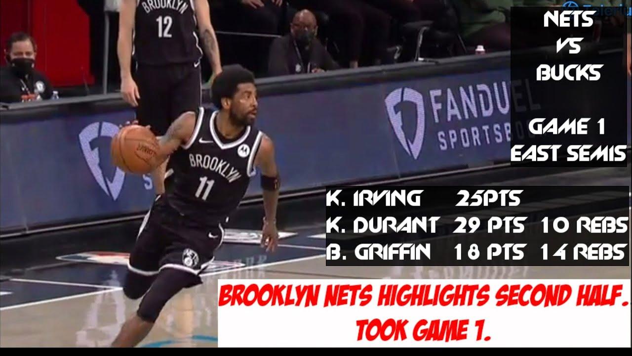 ALL NETS HIGHLIGHTS   BROOKLYN NETS VS MILWAUKEE BUCKS GAME 1 EAST  SEMIFINALS 2021 NBA PLAYOFFS - YouTube