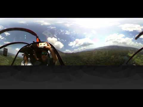 Helicopter tour la Fortuna Costa Rica 360 video & 4K