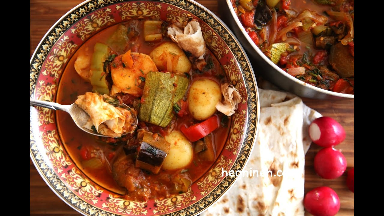 Vegetable ragout recipe aylazan armenian cuisine vegetable ragout recipe aylazan armenian cuisine heghineh cooking show youtube forumfinder Images