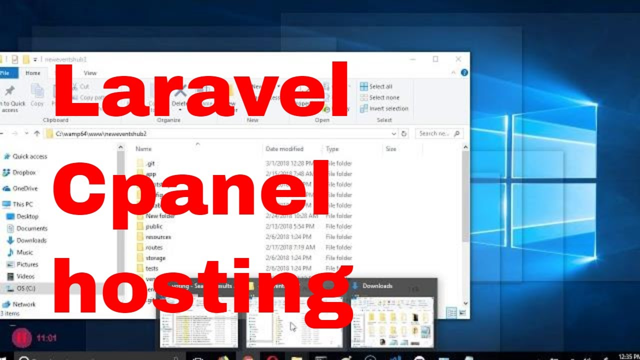 How to upload laravel to Cpanel