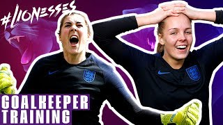 INCREDIBLE Volley from Carly Telford! | Goalkeeper Duels | England