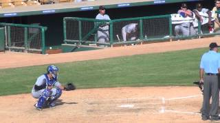 Jorge Alfaro, C, Texas Rangers (AFL Game At-Bats + Defense)